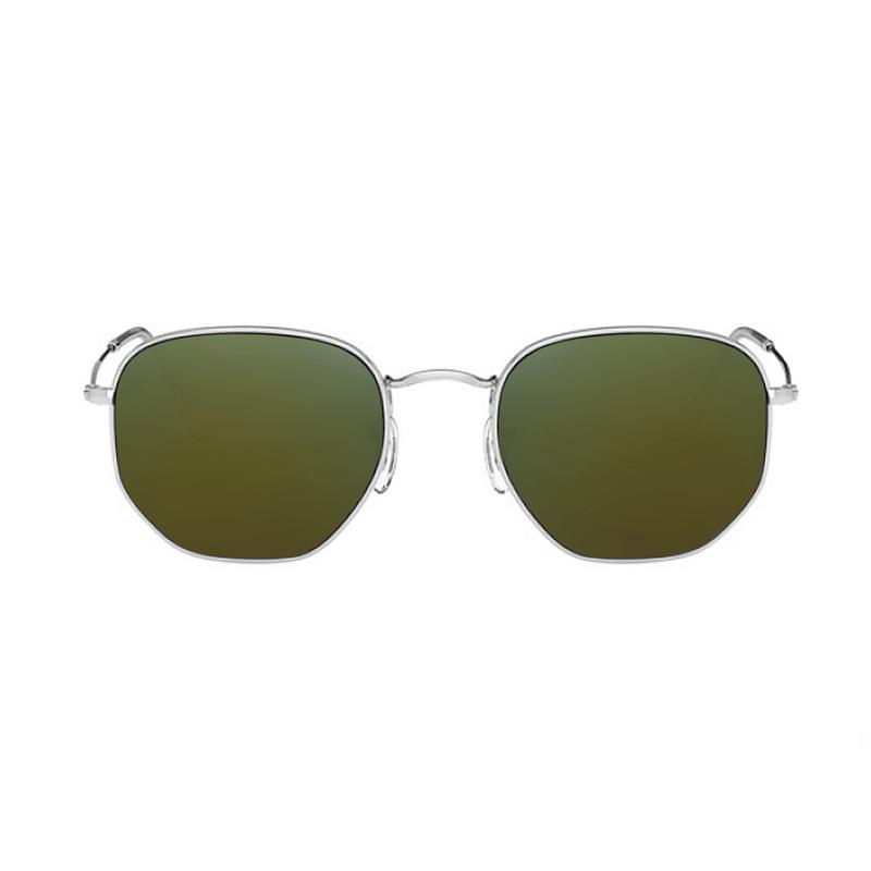 lentes-rayban-hexagonal-RB3548-emerald-kingoflenses