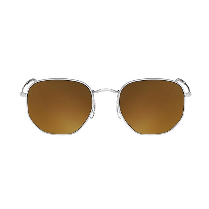 lentes-rayban-hexagonal-RB3548-gold-kingoflenses